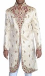 Indian Sherwani for Men Ivory Indo Western Traditional Cut Work Sherwani kurta