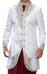 Mens Sherwani kurta White Indo Western Royal Look Indian Sherwani