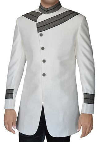 Sherwani for Men Cream Designer Indo Western for Reception