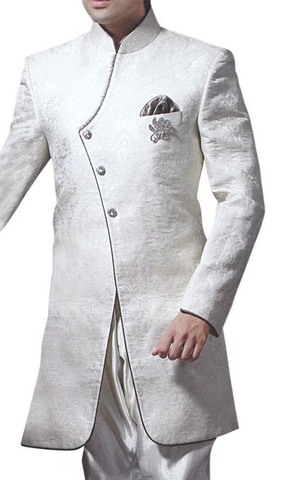 Sherwani for Men Wedding White Indo Western For Groom Sherwani