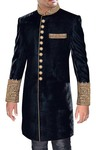 Mens Black 2 Pc Indo Western Hand Embroidered