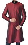 Mens Maroon 2 Pc Indowestern Suit Traditional Designer