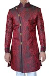 Indian Wedding for Men Sherwani Maroon Indo Western Suit Bridegroom