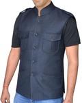 Mens Tweed Waistcoat Nehru Collar Hunting Style Vest