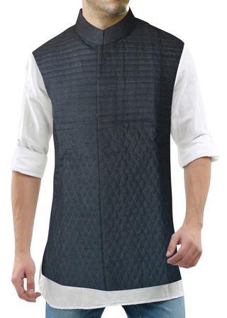 Nehru Jacket Mens Black Nehru Vest Designer