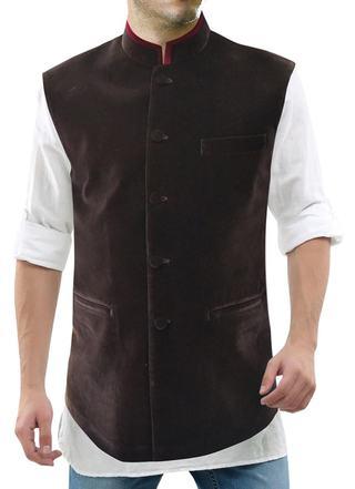 Mens Brown Nehru Vest Handsome Perfect look