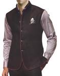 Mens Black Linen Vest For Travel 5 Button