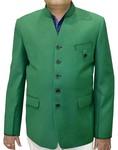 Mens Green Blazer Classic V Neck