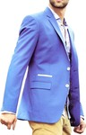 Mens Sky Blue Jacket Formal Two Button