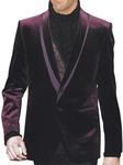 Mens Fashionable Mulberry Velvet Blazer