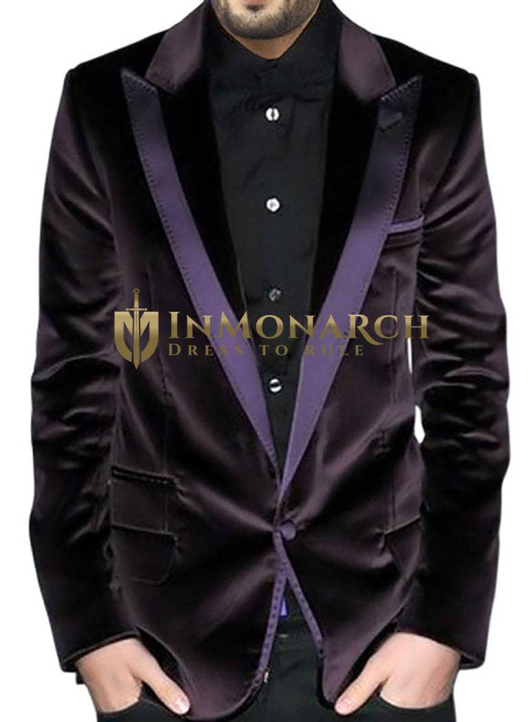 Mens Slim fit Casual Mulberry Blazer sport jacket coat Impressive One Button