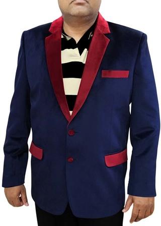Mens Navy Blue Velvet Blazer Handsome