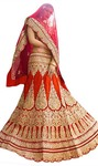 Exotic Red Raw Silk Bridal Lehenga Choli