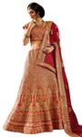 Heavy Embroidered Pure Raw Silk Lehenga