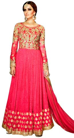 Indian Ethnic Georgette Magenta Anarkali