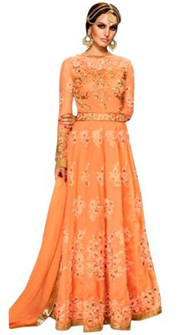 Ethnic Orange Georgette Anarkali Suit
