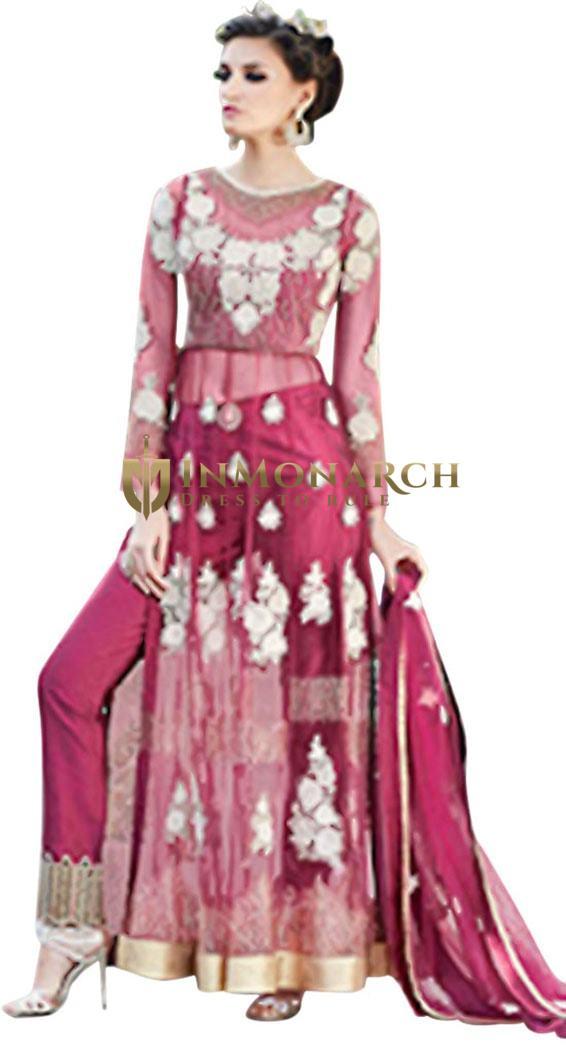 Beautiful Magenta Party Wear Anarkali Suit