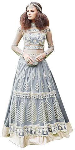 Masterly Grey Georgette Anarkali Suit
