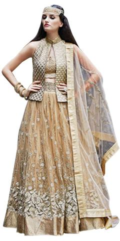 Golden Wedding Anarkali Salwar Kameez