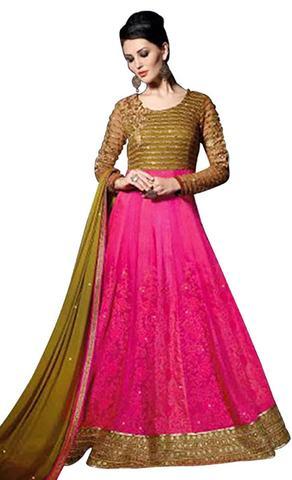Exclusive Pink Net Salwar Kameez