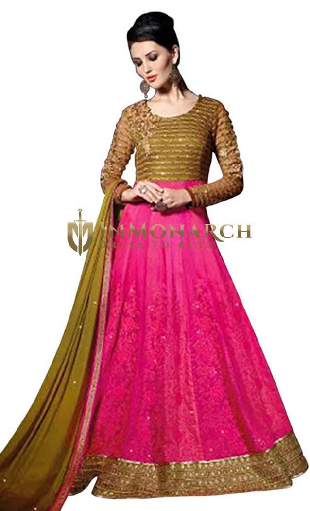 Exclusive Pink Net Salwar Kameez