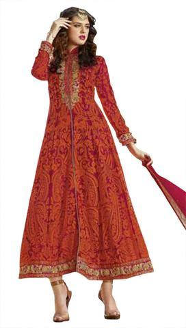 Magnetic Georgette Embroidered Anarkali Suit