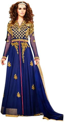 Gorgeous Royal Blue Designer Anarkali Gowns