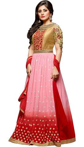 Designer Pink Anarkali Salwar Suits