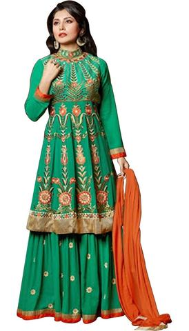 Beautiful Green Anarkali Salwar Suits