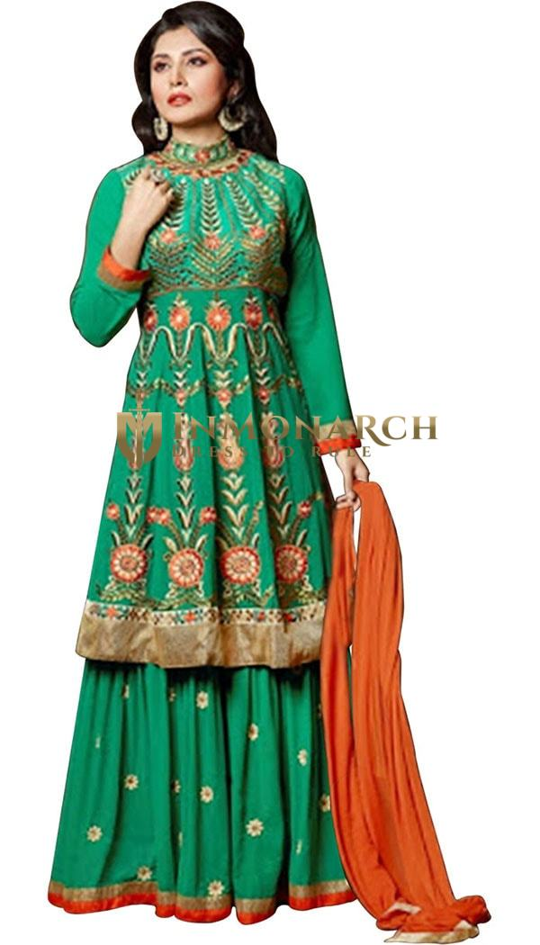 Beautiful Green Anarkali Salwar Suits