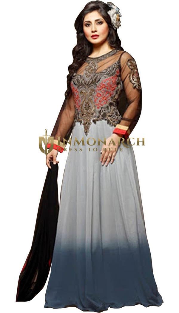Dazzling Georgette Net Anarkali Suit