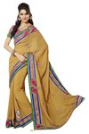 Traditional Copper Faux Georgette Saree