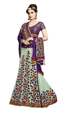 Indian Traditional Net Chiffon Designer saree