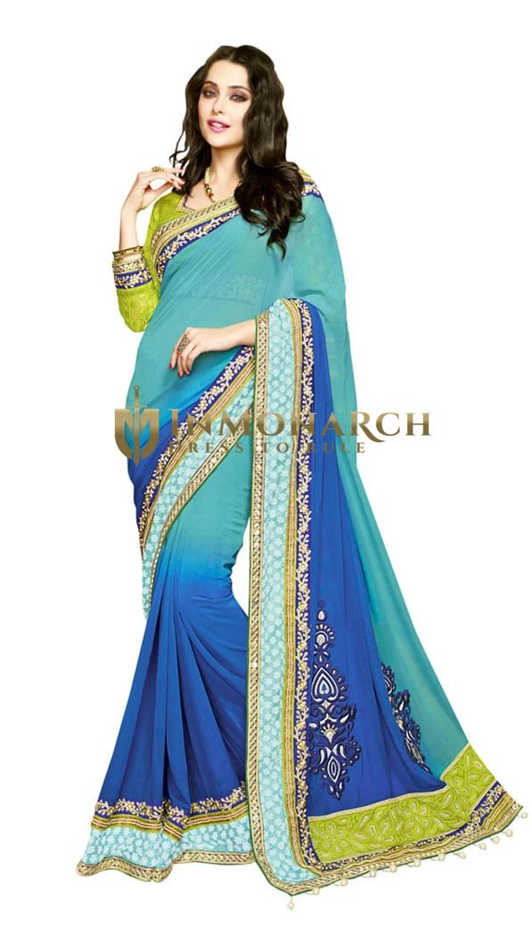 Designer Look Georgette Chiffon Saree