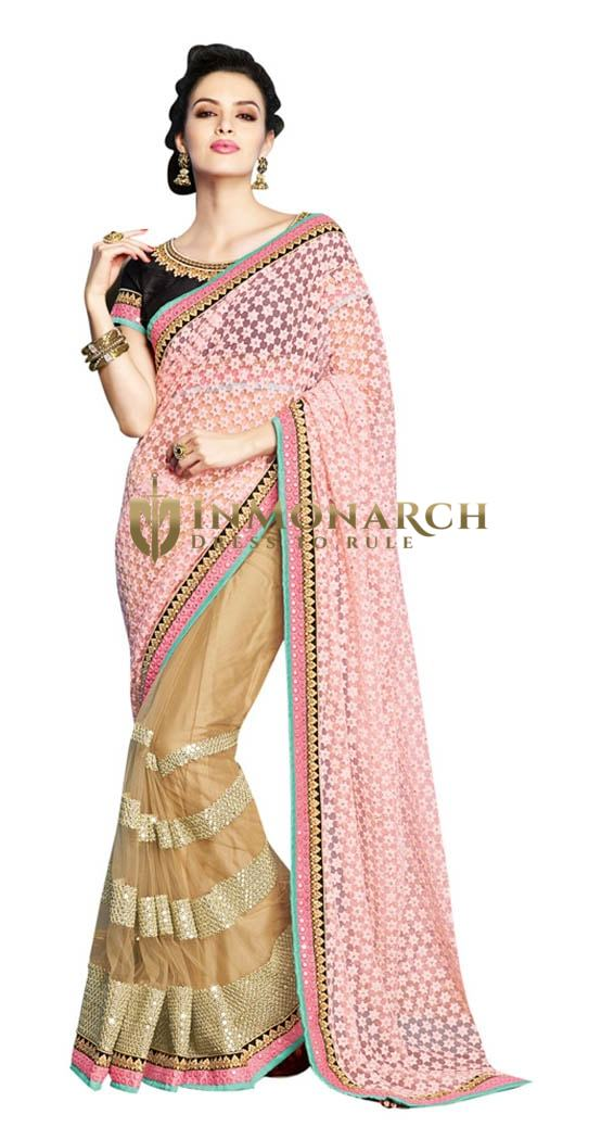Pretty Traditional Partywear Net Saree