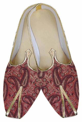 Mens Red Brocade Designer Shoe