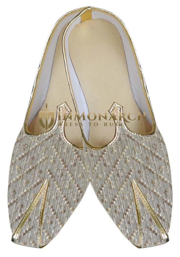 Mens Cream Awesome Wedding Shoe