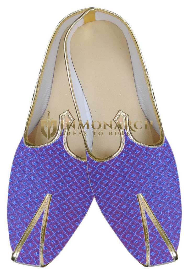Mens Blue Traditional Wedding Shoe