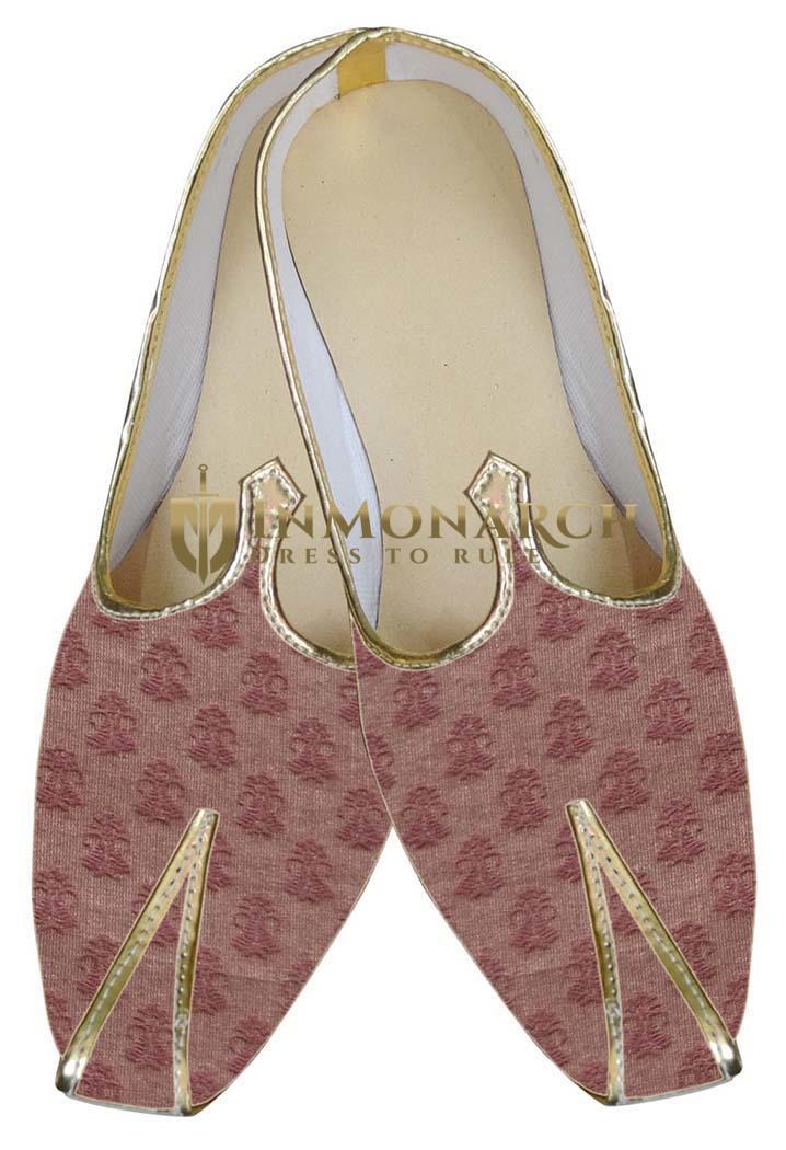 Mens Sherwani Shoes Brown Wedding Shoes Traditional Juti ForMen