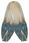 Mens Teal Brocade Wedding Shoes Paisley Pattern
