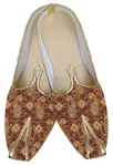 Mens Copper Brocade Wedding Shoes Paisley