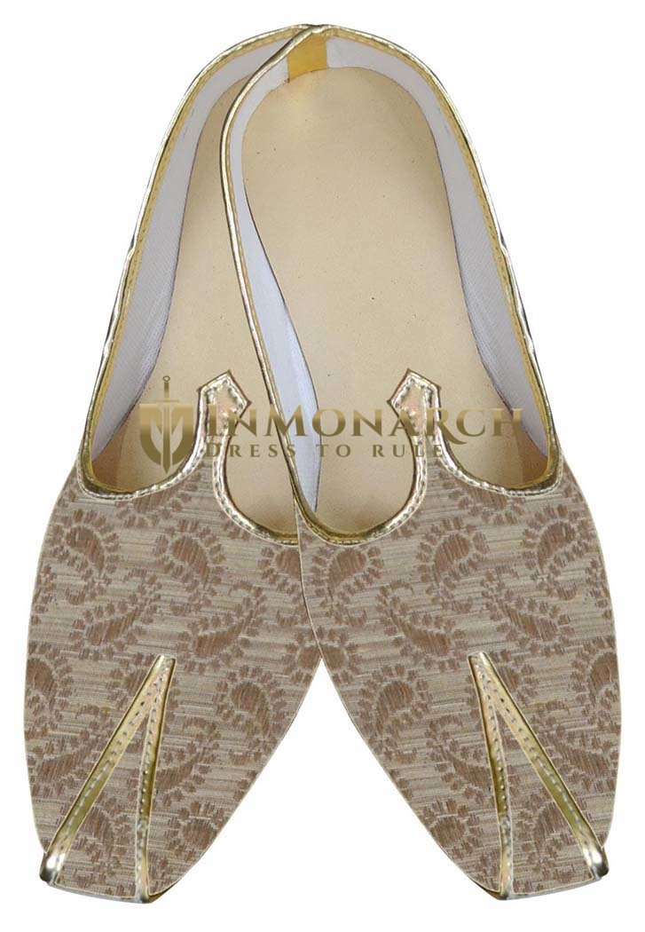 Traditional Shoes For Men Beige Shoes Traditional Indian Groom Shoes
