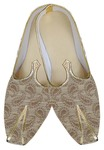 Mens Beige Brocade Impressive Shoes
