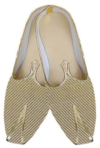 Mens Golden Brocade Groom Shoes
