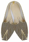 Mens Juti Beige Wedding Shoes Circle Design