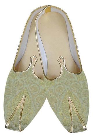 Mens Golden Stylish Wedding Shoes