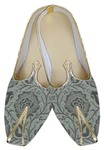 Mens Silver Brocade Wedding Shoes Partywear