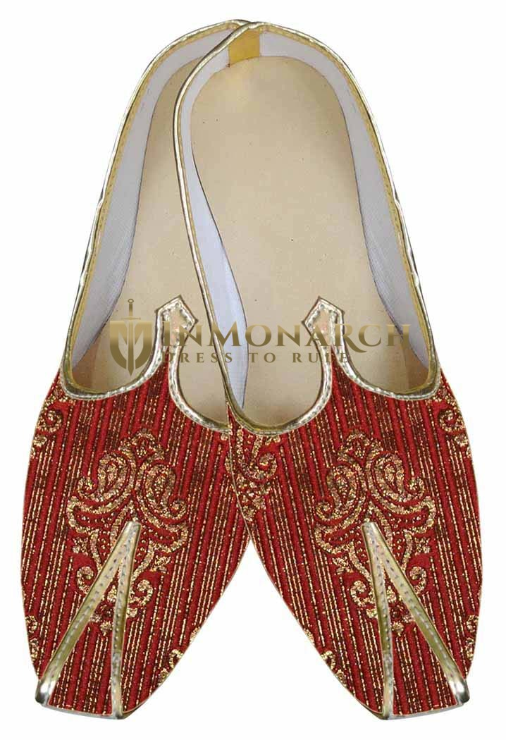 Juti For Men Red Wedding Shoes Traditional Wedding Shoe For Groom