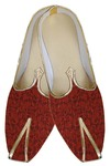 Mens Red Brocade Exclusive Shoes