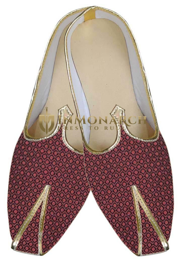 Mens Maroon Indian Designer Shoes